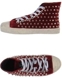 Gienchi Red Hightops Trainers - Lyst