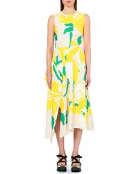 Marni Floral-Print Cotton Dress - For Women - Lyst