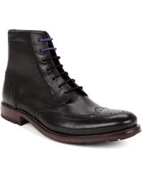 Ted Baker Brogue Ankle Boot - Lyst