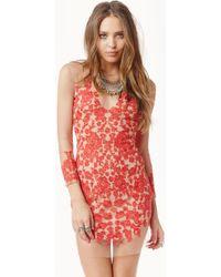 For Love & Lemons Luau Long Sleeve Mini Dress - Lyst