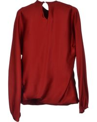 Celine Red Blouse - Lyst