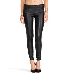 Free People Skinny Vegan Leather Pant in Black - Lyst
