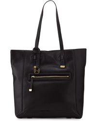 Halston Heritage Pebbled Leather North-South Tote Bag - Lyst