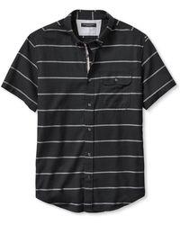 Banana Republic Slim-Fit Bold Stripe Short-Sleeve Shirt black - Lyst