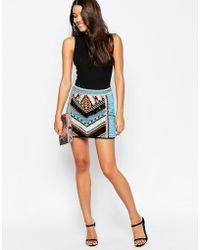 ASOS - Mini Skirt With Aztec Embellishment - Multi - Lyst