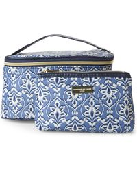 Adrienne Vittadini - Printed 2-Piece Cosmetic Bag Set - Lyst