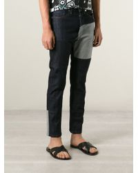 Marni Blue Patchwork Jeans - Lyst