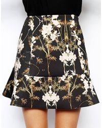 Asos Mini Skirt in Printed Scuba - Lyst