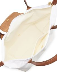 Longchamp Le Pliage Large Shoulder Tote Bag White - Lyst