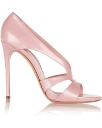 Casadei Patent-Leather Sandals - Lyst