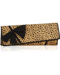 Christian Louboutin La Valliere Asymmetric Printed Calf Hair Clutch - Lyst
