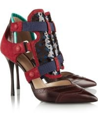 Nicholas Kirkwood Peter Pilotto Leather and Suede Pumps - Lyst