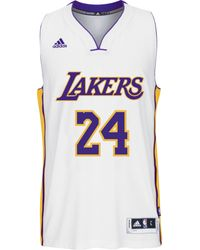Adidas Mens Kobe Bryant Los Angeles Lakers Swingman Jersey - Lyst
