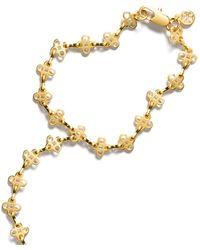 Tory Burch - Mini Clover Hand-chain Bracelet - Lyst
