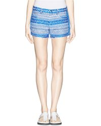 IRO 'Hamel' Tribal Embroidery Cut-Off Shorts blue - Lyst