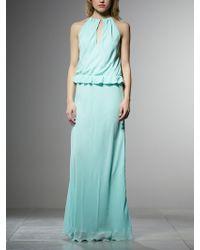 Patrizia Pepe Silk Chiffon Long Dress - Lyst