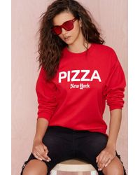 Nasty Gal Petals and Peacocks Pizza Ny Sweatshirt - Lyst
