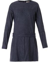 See By Chloé Pinstripe Woolblend Dress - Lyst