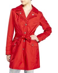 London Fog Hooded Trench Coat - Lyst