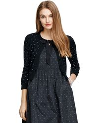 Brooks Brothers Merino Wool Polka Dot Cardigan - Lyst