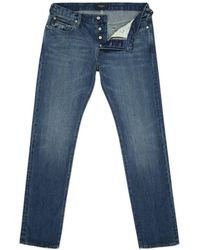 Paul Smith Tapered-Fit Light-Wash Jeans - Lyst