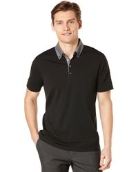 Perry Ellis Short Sleeve Pima Polo Shirt - Lyst