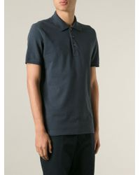 Canali Classic Cotton-Blend Polo Shirt - Lyst