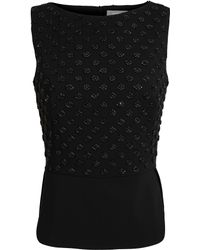 Osman Yousefzada Embellished Stretchwool Top - Lyst