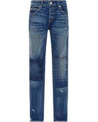 AMO   Tomboy Patchwork Detail Jeans   Lyst