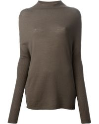 Rick Owens Dropped Shoulder Sweater - Lyst