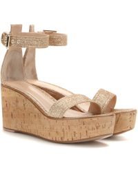 Gianvito Rossi Mytheresa.Com Exclusive Glitter Wedge Sandals - Lyst