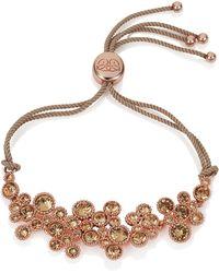 Caroline Creba - Swarovski Crystal Bracelet Rose Gold & Brown - Lyst