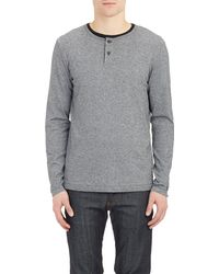 Theory Gray Sayer Henley - Lyst