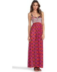 Maaji Long Dress in Pink - Lyst