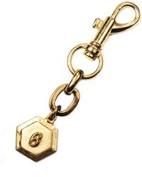 Lulu Frost Victorian Plaza Charm Number Keychain #6 gold - Lyst