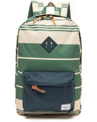 Herschel Supply Co. Heritage Backpack  Army Stripe Acai Redwhite Lac - Lyst