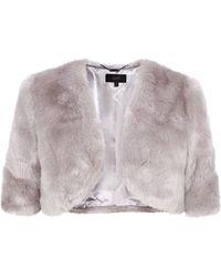 Coast Bleeker Faux Fur Cover Up - Lyst
