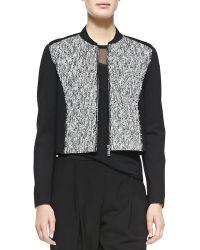 Elie Tahari Cleary Tweed Boxy Jacket - Lyst