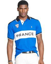 Polo Ralph Lauren Custom Fit Snow Polo France Mesh Shirt - Lyst