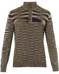 Missoni Striped Rollneck Cashmereknit Sweater - Lyst