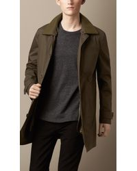 Burberry Showerproof Car Coat with Removable Topcollar - Lyst