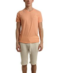 V::room Short Sleeve V Neck Tee In Orange orange - Lyst