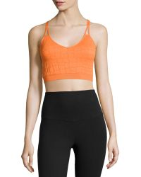 Yummie By Heather Thomson Mia Croc-Jacquard Sports Bra - Lyst