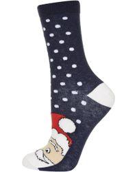 Topshop Santa Toe Ankle Socks - Lyst