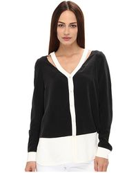 Rachel Roy Color Block Blouse - Lyst