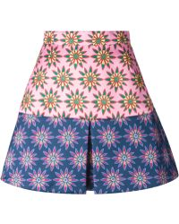 House of Holland A-Line Floral Skirt - Lyst