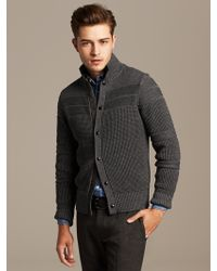 Banana Republic Military Textured Sweater Jacket - Lyst