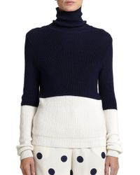 Ralph Lauren Collection Colorblock Turtleneck Sweater - Lyst