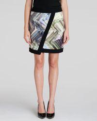 Ted Baker Skirt - Lucilia Parquet Geo Print Wrap - Lyst