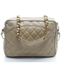Chanel Pre-owned Vintage Quilted Charm Camera Bag - Lyst